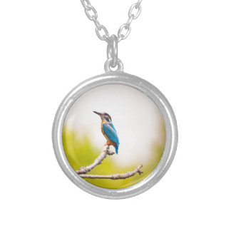 Kingfisher Nature Silver Plated Necklace