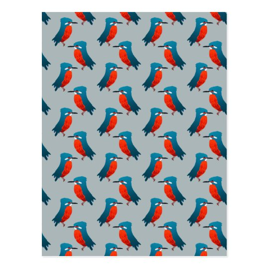 KIngfisher Pattern Postcard