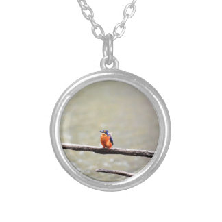 KINGFISHER QUEENSLAND AUSTRALIA SILVER PLATED NECKLACE