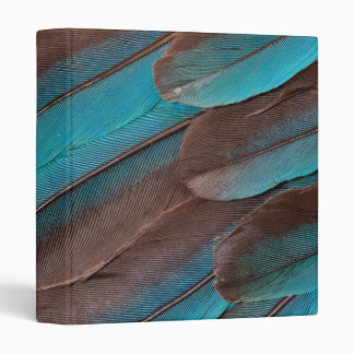 Kingfisher Wing Feathers 3 Ring Binder