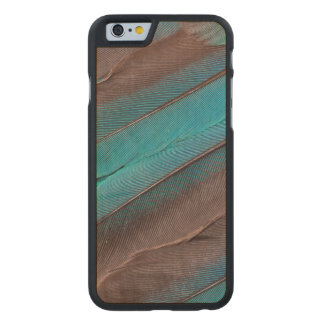 Kingfisher Wing Feathers Carved Maple iPhone 6 Case