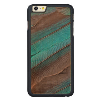 Kingfisher Wing Feathers Carved Maple iPhone 6 Plus Case