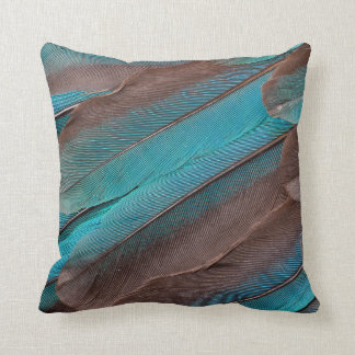 Kingfisher Wing Feathers Throw Pillow