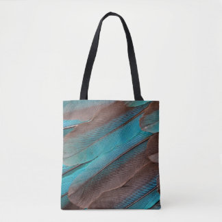 Kingfisher Wing Feathers Tote Bag