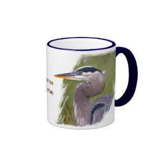 Kingly Blue Heron Mug