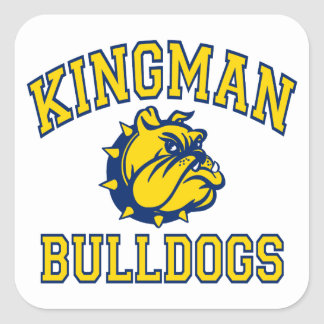 Kingman Bulldogs Square Sticker