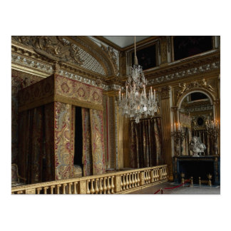 King's bed chamber, Palace of Versailles, France Postcard