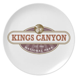 Kings Canyon National Park Party Plate