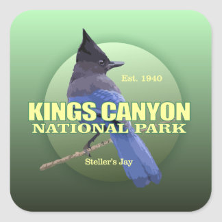Kings Canyon NP (Stellers Jay) WT Square Sticker
