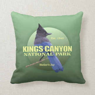 Kings Canyon NP (Steller's Jay) WT Throw Pillow
