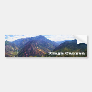 Kings Canyon Panoramic Bumpersticker Bumper Stickers