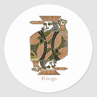 KINGS CLASSIC ROUND STICKER