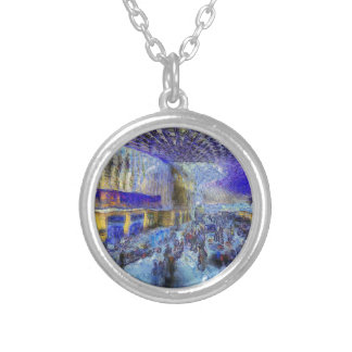 Kings Cross Rail Station London Art Silver Plated Necklace