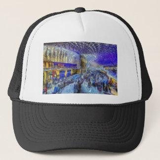 Kings Cross Rail Station London Art Trucker Hat