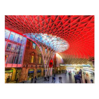 Kings Cross Station London Postcard