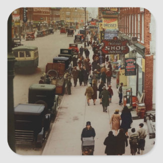 Kings Highway,Brooklyn in 1929 Square Sticker