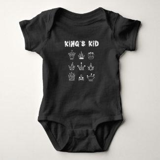 KING'S KID FINAL FINAL WHITE BABY BODYSUIT