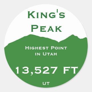 King's Peak Classic Round Sticker