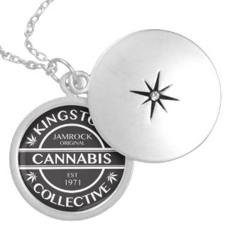 Kingston Cannabis Collective Round Locket Necklace