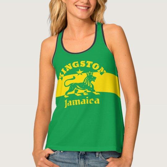 Kingston Jamaica Rasta Lion and Jamaican Flag Tank Top