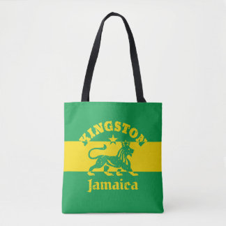Kingston Jamaica Rasta Lion Tote Bag
