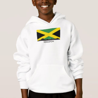 Kingston Jamaica Skyline Jamaican Flag