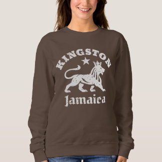 Kingston Jamaica Vintage Rastafarian Lion Sweatshirt