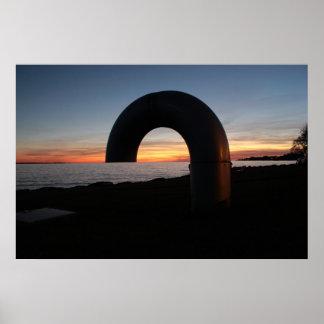 Kingston lake,Ontario sunset. Poster