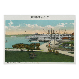 Kingston Point View of Hendrick Hudson Steamer Poster