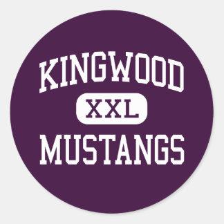Kingwood - Mustangs - High School - Kingwood Texas Classic Round Sticker