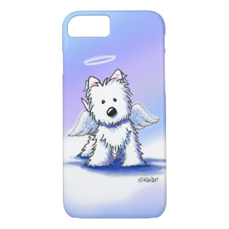 KiniArt Angel Westie iPhone Case
