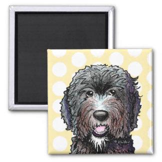 KiniArt Black Doodle Magnet