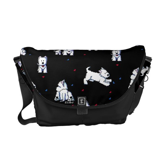 KiniArt Block Party Westies Messenger Bag
