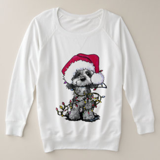 KiniArt Blue Merle Cockapoo Plus Size Sweatshirt