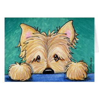 KiniArt Cairn Terrier Dog Art Card