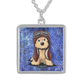 KiniArt Cairn Terrier Pilot Sterling Silver Necklace
