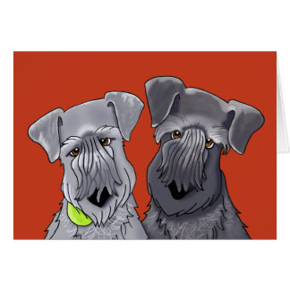 KiniArt Cesky Terriers Card