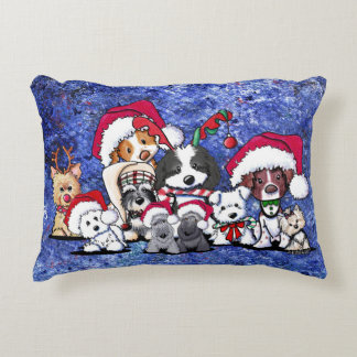 KiniArt Christmas Party Accent Pillow