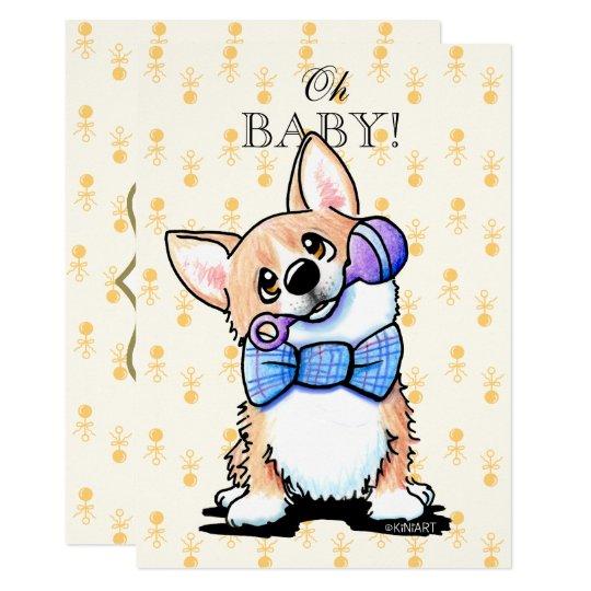 KiniArt Corgi Baby Shower Invitation
