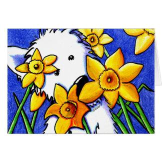 KiniArt Daffodil Westie Card