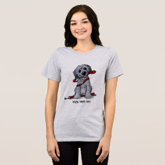 KiniArt Doodle Black and Gray T-Shirt