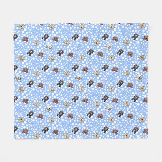KiniArt Doodle Dog Fleece Blanket