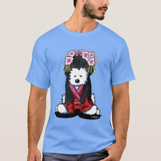 KiniArt Geisha Westie Dog T-Shirt