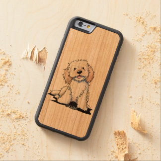 KiniArt Happy Little Dood Carved Cherry iPhone 6 Bumper Case