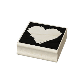 KiniArt Heart Rubber Stamp