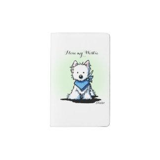 KiniArt Love My Westie Pocket Moleskine Notebook