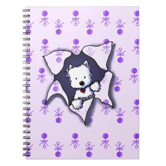 KiniArt New Puppy Journal Spiral Notebooks