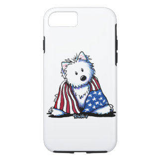 KiniArt Patriotic Westie iPhone 8/7 Case