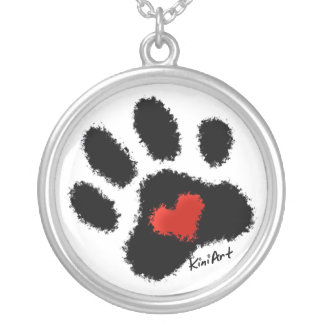KiniArt Paw Print Necklace