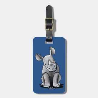 KiniArt Rhino Luggage Tag